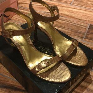 Ralph Lauren Copper Heels